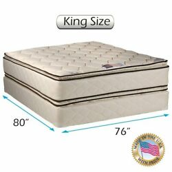 Coil Comfort Two-sided Pillowtop King Mattress Set With Mattress Cover Protector