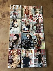 Lot Of 12 Complete Year 2014 Vintage Vogue Fashion Magazine Collector Set