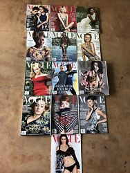 Lot Of 13 Complete Year 2016 Vogue Fashion Magazine Collector Set And Supplement