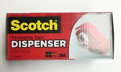 Scotch 3 Core, Compact And Quick Loading Plastic Tape Dispenser - Red Dp300-rd