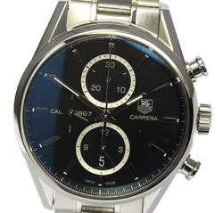 Tag Heuer Carrera Car2110-0 Cal.1887 Black Dial Automatic Menand039s Watch_545166
