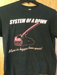"""System Of A Down  """"Mine Is Bigger Than Yours"""".  Black Shirt.  L. $50.00"""