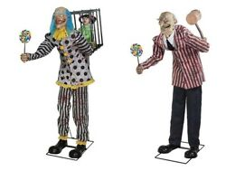 Halloween Animated Mr Happy Clown And Candy Creep Props Haunted House Get Both
