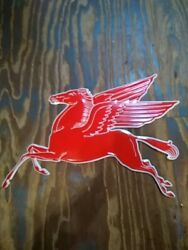 Mobil Gas Flying Red Horse Pegasus Metal Sign Extra Large 35 Oil