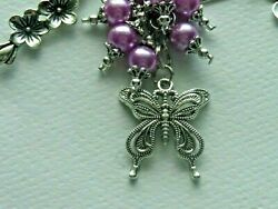 BOHO HIPPIE BUTTERFLY DREAM BELIEVE KEYCHAIN CLIP FOR PURSE FOB DESIGNER BAGS $10.99