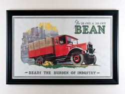 Art Deco 1930and039s Advertising Bean Transport Poster