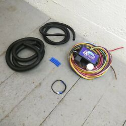 12v 18 Circuit 12 Fuse Universal Wiring Harness Kit 1939 Ford Hot Rod Street Rod