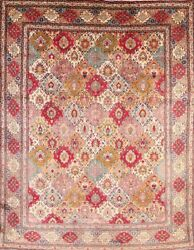Vintage Floral Oriental Area Rug Wool Hand-knotted All-over Carpet 10x13