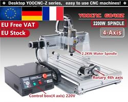 【fr】4 Axis 2.2kw Spindle Desktop 6040 Usb Mach3 Cnc Engraving Router Machine Kit