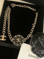 Necklace Auth Coco Logo Gold Chain Leather Choker Bracelet Bangle F/s