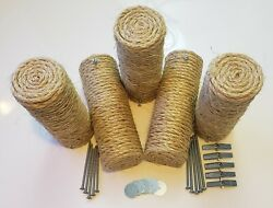 Set of 5 Floating Sisal Cat Steps Floating Step Cat Wall Cat Scratch New.