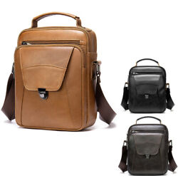 Genuine Leather Crossbody Bags for Men Small Durable Business Messenger Bag $46.99
