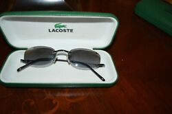 LACOSTE RIMLESS SUNGLASSES 1809 F938 LA W HARD CASE