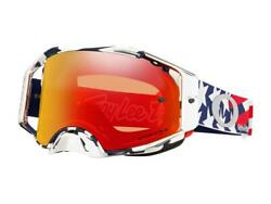 Mask Window Cylinder Oakley Airbrake MX Troy Lee Designs Patriot Red White Blue $234.74