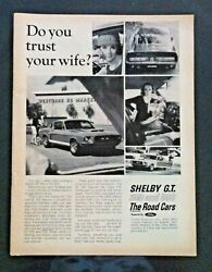 1967 Ford Shelby Mustang Gt 350 500 Goodyear Wide Boots Print Car Ad Gift 1966