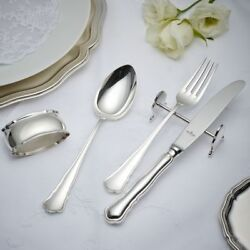 Wilkens Chippendal 30-tlg. Flatware Utensils 6.3oz Royal Silver Plated Cutlery