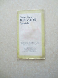 1920s Kingston Model T Ford Heater And Battery Ignition Advertising Brochure