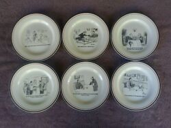 The New Yorker Cartoon Cheese Plates Assorted Restoration Hardware 8 Set Of 6