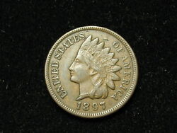 Summer Sale Xf+ 1897 Indian Head Cent Penny W/ Diamonds And Full Liberty 49s