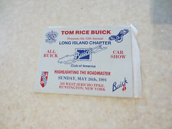 1991 All Buick Car Show Long Island Chapter Buick Club Of America Car Dash Badge