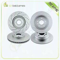 Front And Rear Drilled And Slotted Discs Brake Rotors Fits Acura Tl 2004-2008