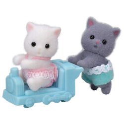 Calico Critters Persian Cat Twins Figure Set NEW IN STOCK
