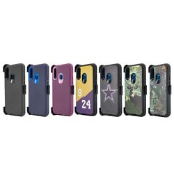 For Samsung Galaxy A20s Case Belt Clip Holster Fits Otterbox Defender + Screen