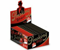 24x Smoking Deluxe King Size Slim Rolling Paper + Filter Tips - Full Box