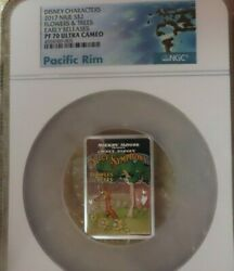 2017 Niue Flowers And Trees 1oz Silver Coin Ngc Pf70 Disney Mickey Mouse Pop 20