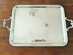 5 Day Leftchristofle Paris Tray Silver Plated 21x17 Twin Handlefree Shipping