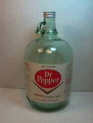 1962 Dr Pepper Soda Pop Fountain Syrup Bottle With Lid Exc Condition