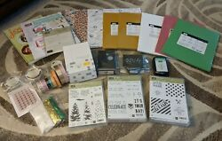 Stampin Up Huge Lot Paper Stamps Accessories Punch And More - Brand New