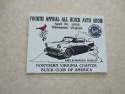 1995 All Buick Show Nth Virginia Chapter Buick Club Of America Car Dash Badge