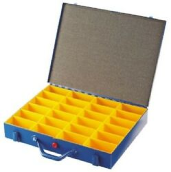 Rs Pro Small Part Storage Box 65x440x370mm 24-compartments Foam Lined Lid, Blue