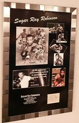 Rare Sugar Ray Robinson Signed Display And Photo Picture Luxury Display