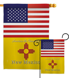 Us New Mexico Garden Flag Regional States Decorative Gift Yard House Banner