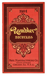 1904 Vintage Rambler Bicycles - Advertising Catalog From Chicago, Illinois