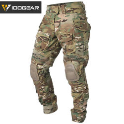 Idogear G3 Combat Pants With Knee Pads Multicam Pants Paintball Trousers Airsoft