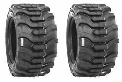 Two 18x8.50-10 Lawn Tractor Tires Lug R-4 R4 Pair 18x8.5-10 Loader Skid