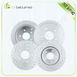Front And Rear Slotted Brake Discs Rotors For Pontiac Gto 2004 G3000 Casting