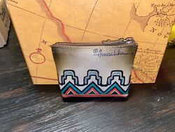 Anuschka Coin Pouch Hand Painted-Southwestern Geometric Design $16.20