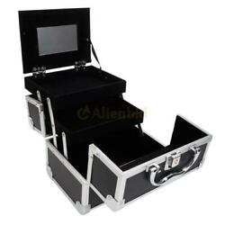 New Aluminum Makeup Train Cosmetic Jewelry Case Cosmetic Storage Lockable Box
