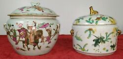 2 Kamcheng Tureens. Rose Family And Green Famille. Porcelain. China. End Xixth