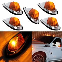 5x Teardrop Roof Light Semi Trailer Truck Clearance Universal Amber Cab Marker