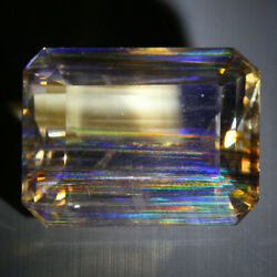 29.17 Cts_antique Collection_100 Natural Rutile Rainbow Color Play Scapolite