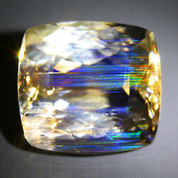 47.68 Cts_antique Collection_100 Natural Rutile Rainbow Color Play Scapolite