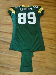 Mark Chmura 89 Game Used 1997 Green Bay Packer Jersey Grey Flannel Letter