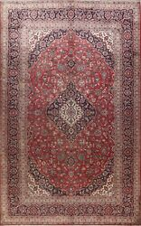 Floral Traditional Semi Antique Wool Area Rug Hand-knotted Oriental Carpet 10x13