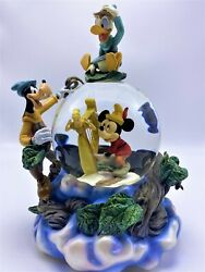 Disney Mickey, Goofy And Donald And The Beanstalk Musical Snow Globe