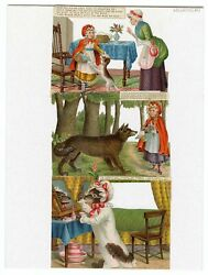 Die-cut Victorian Little Red Riding Hood Fairytale Picture Cards, Complete Set O